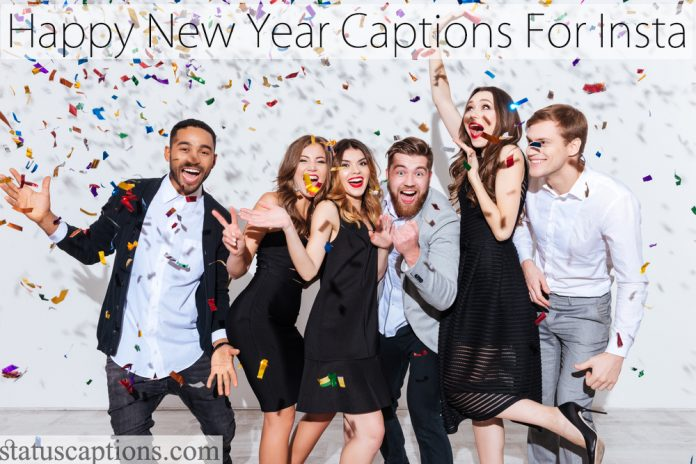new year captions