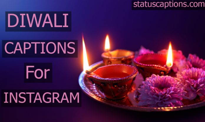 diwali captions
